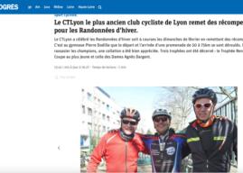ARTICLE ET PHOTOS DU PROGRES                     pour la  clôture des randonnées d'hiver pour l'année 2020, du CTLyon,  ce dimanche 23 février à Lyon 5ème